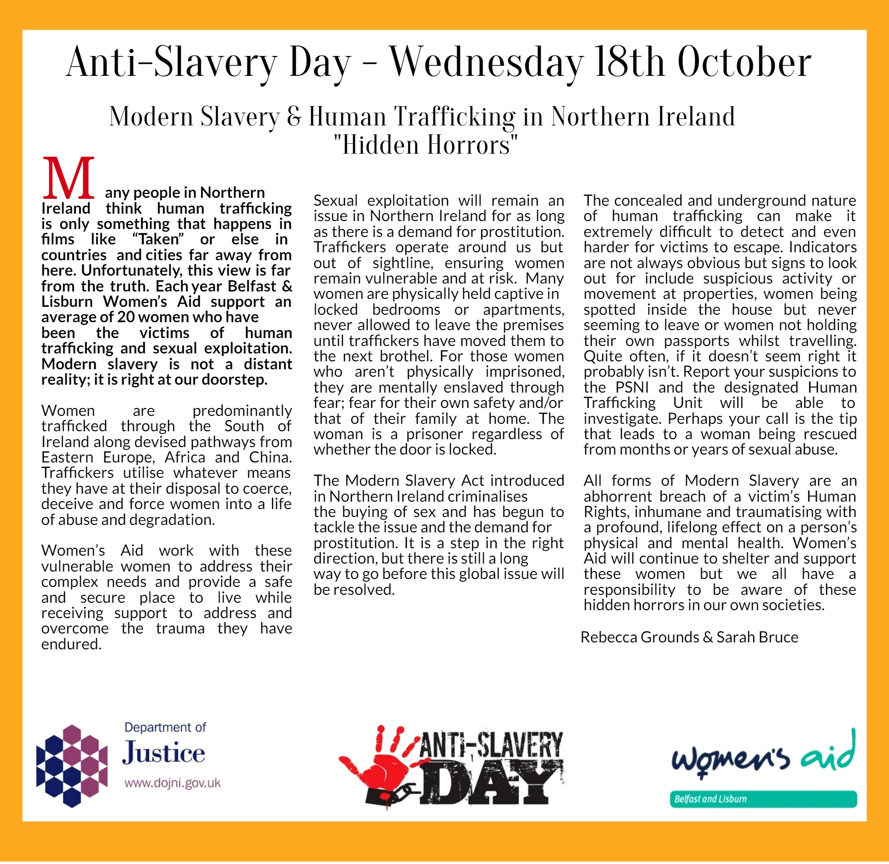Anti slavery day 2017 modern slavery human trafficking in ni anti slavery day 2017 modern slavery human trafficking in ni life law ni solutioingenieria Images